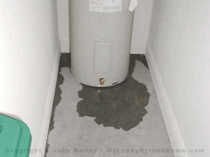 WATER HEATER WATER DAMAGE